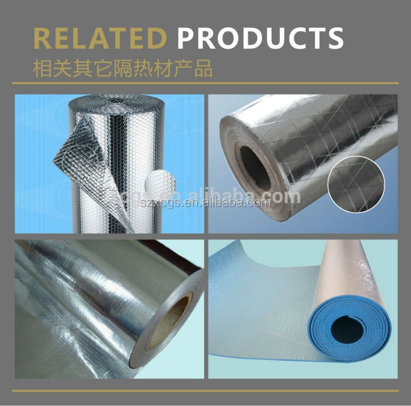 Hot Reflective Aluminum Foil Foam Building Materials Heat Insulation Material Suppliers Under Metal Roof as Thermo Insulation