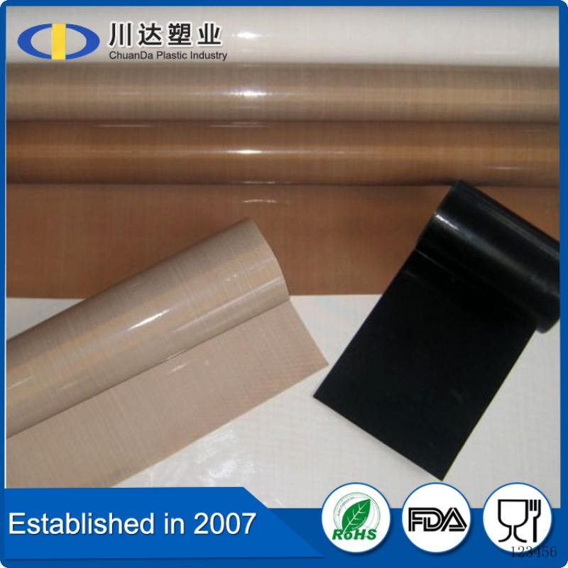 Hot Sale silicone glue for fabricNon stick high tempretures resistant solar panel lamination teflon coated fiberglass film sheet