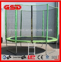 Quality gymnastic trampoline with enclosure for kids