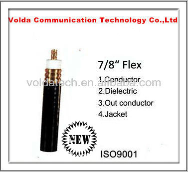 Recommended 50Ohm corrugated 7/8 RF coaxial cable feeder cable for mobile radio telecom factory price with good quality