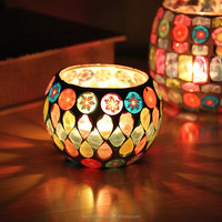 Glass Mosaic Candle Holder Candlesticks For