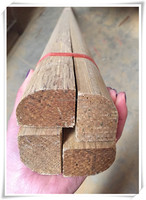 decorative wood moulding for stair from china/carved flat wood moulding