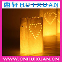 fireproof paper candle bags for decoration colored luminary candle bags