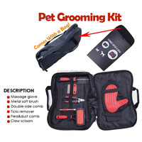 Dog Hair Shedding Tool Customized Functional Pet Brush Dog Grooming Kit