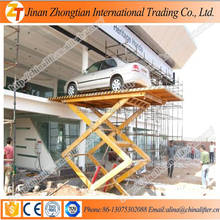 Hydraulic auto lift scissor car lift/home factory used stationary garage lift price