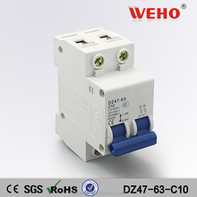 Hot sale DZ47-63 air miniature circuit breaker 10A 2P
