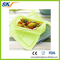 Easy cleaning Non-stick slicone food containers with new design