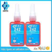 Motin best seller china manfacture 242 thread locke/acrylic emulsion/ adheive glue botttle