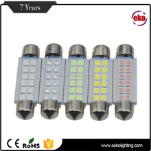 44Mm 12Pcs Smd Automotive Bulb Interior Dome Reading Light Canbus Festoon Led Car Auto Lamp