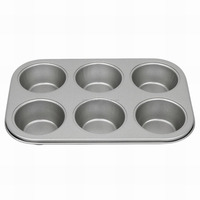 JK16205BC 6-cup medium size Non-Stick Muffin Cup Pan