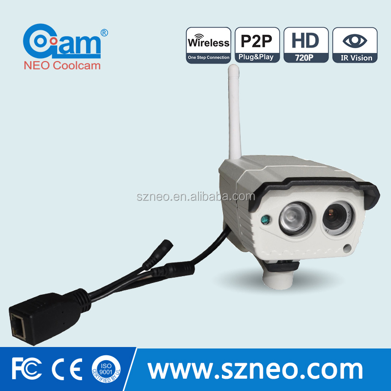 NEO 720P ip outdoor camera bullet type with SD/TF card slot