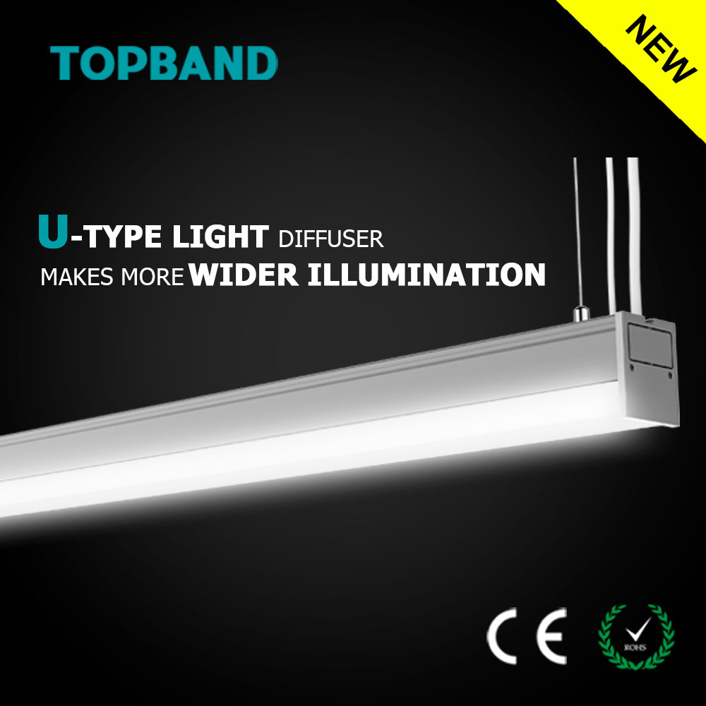 30W 40W Ceiling Hanging Streamline 2 LED Linears CE Rohs Commercial Lighting Dimmable Light for Office Lighting 4600lm
