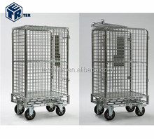 POST SECURITY METAL ROLL CONTAINER / PRESS ROLL CAGE