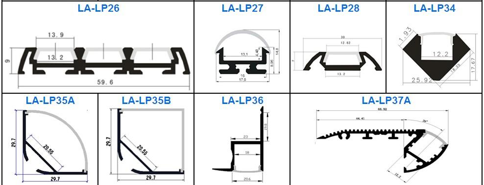 Led Heat Sink Profile Aluminum Extruded Profile Led Light
