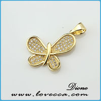 fashion color gold plating glowing fake crystal necklace pendant