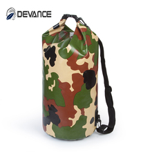 Boating. whitewater .rafting.hiking .waterproof foldable camo military PVC bag with shoulder strap