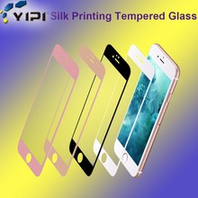 2017 New Products Silk Print Anti Radiation Japan Raw Material Mobile Phone Tempered Glass Screen Protector<
