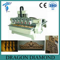 Multi spindle cnc wood engraving machine LZ-1325-6/Multi heads for cnc furniture engraving router