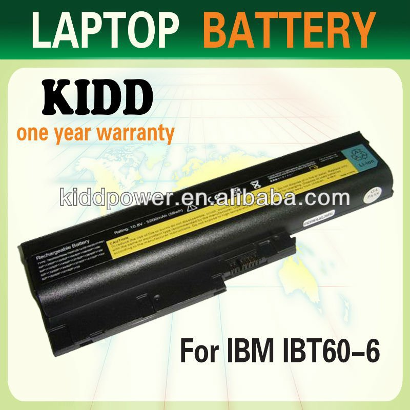 KIDD OEM A grade laptop battery for IBM thinkpad T61 R60 replacement Li-lon battery