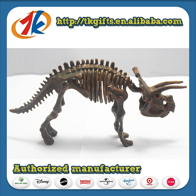 Wholesale from China high quality small plastic skeleton dinosaur figurine toys