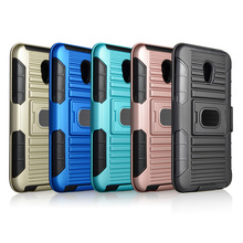 High quality rugged plastic tpu pc belt clip kickstand combo holster case for LG stylus 2/LS775 work with car magnet mount