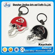 hot sale in 2015 leather pvc ice hockey helmet led lights keychain
