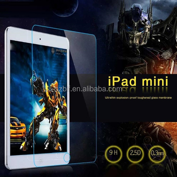 Top quality 9h milo anti fingerprint tempered screen protector for ipad mini 3