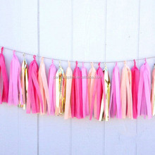 Professional factory supply party favor tissue tassel garland
