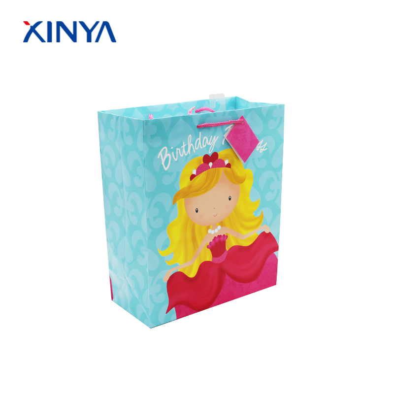 Most popular small luxury gift paper bag for birthday and party
