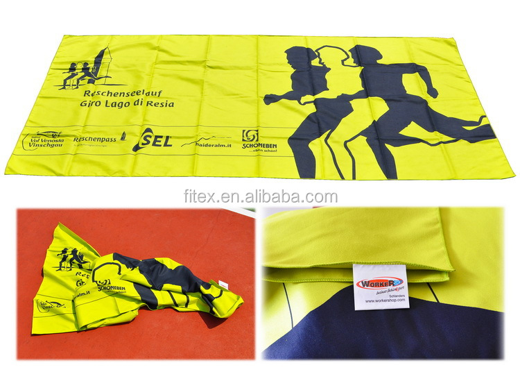 China 200gsm 80% polyester 20% polyamide cheap microfibre towel for sport ,beach,swimming,bath,travelling and promotion