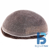 High quality human hair full lace wig/toupee/hairpiece for men