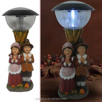 Children boy and girl pray Harvest festival decorations solar garden light led festival decorative lights
