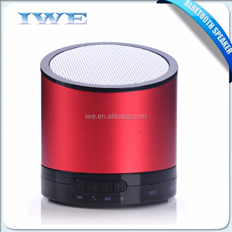 2016 NEW Gadgets Unique Design Subwoofer 3w Metal Bluetooth Speaker, bulk items wireless mini aluminium bluetooth speaker