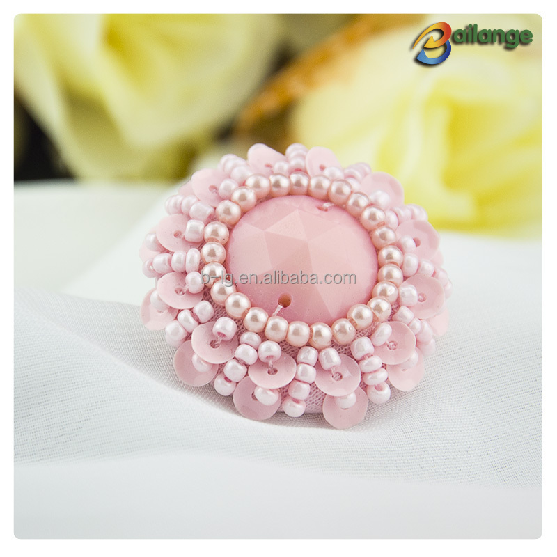 Wholesale fancy designer coat clothing buttons beaded buttons for baby sweaters
