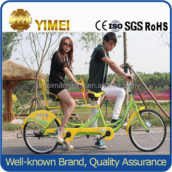 steel frame two person surrey bike lovers sightseeing bicycle