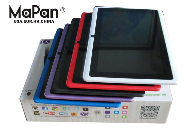 MaPan Hot Selling tablet high quality 7inch tablet pc two camera cheap ram 512 rom 8gb wifi for sale with ce fcc tablet