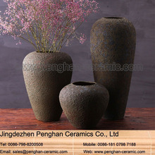 Chinese art outdoor wholesale candelabra clay types of flower vase