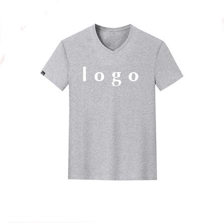 New arrival cheap custom logo t shirt jersey underwear blank v neck singlet promotional shirts wholesale china