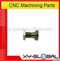 OEM high precision cnc machining part brass tube nut