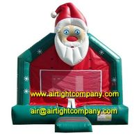 good selling fashional inflatable santa claus bounce house christmas inflatable bouncera