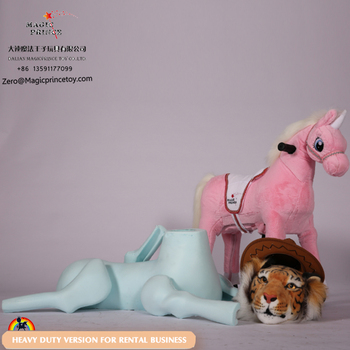 Always good ride on animal toys, mail ride on mechanical horse pony with wheels for adult and kids