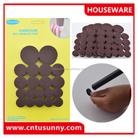 Self adhesive felt pad, chair leg floor protection