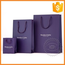 Custom recyclable drawstring art paper bags for shopping