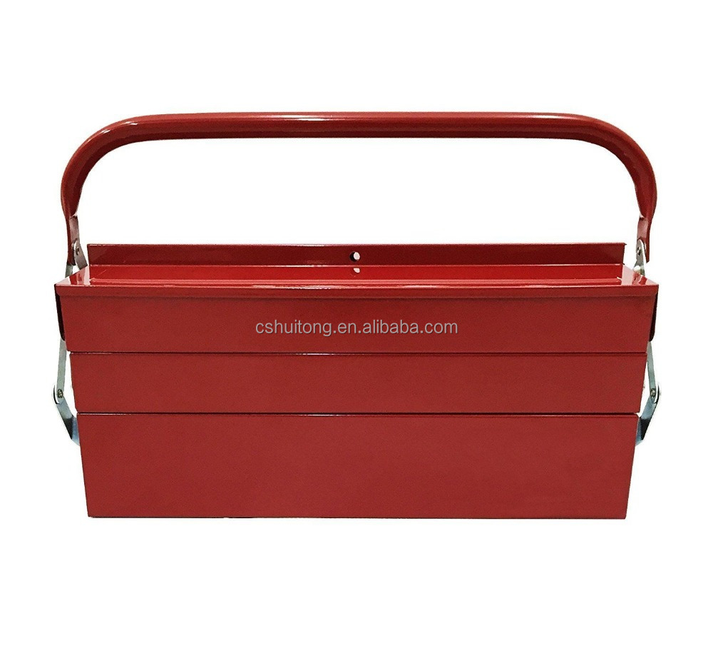 14 Inch Five Tray Cantilever Steel Tool Box In Red Finish TB124 RED New