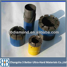 Surface set diamond core drill bit,impregnated diamond core bit,NQ reaming shell
