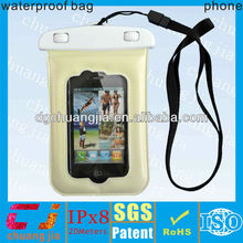 yellow PVC Waterproof Phone Case for Iphone4/4s