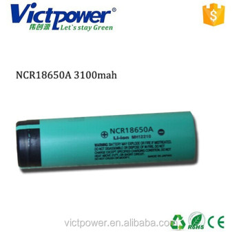 18650 ltihium battery NCR18650A 3100mah battery cell
