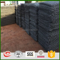 grillage pour gabion with C rings for rockfall protect