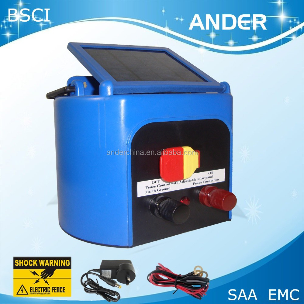 Animal Livestock Farm Solar Power Electric Fence Energiser Charger -3km Distance