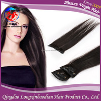 Wholesale Straight Double Wefted Clip in Weft Remy Pruvian Human Hair Extensions